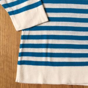 Banana Republic Factory Tops - Banana Republic Cream and Blue Stripe Sweater